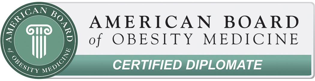 Board certified Obesity Medicine specialist